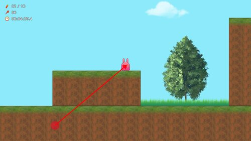 うさぴょんマウンテン Game Screen Shot