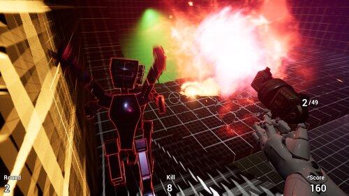Robot Zombie Shooter Game Screen Shot