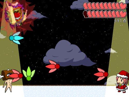 アケオメスレイヤー ~ミコのクリスマスけいかく2020~ Game Screen Shot