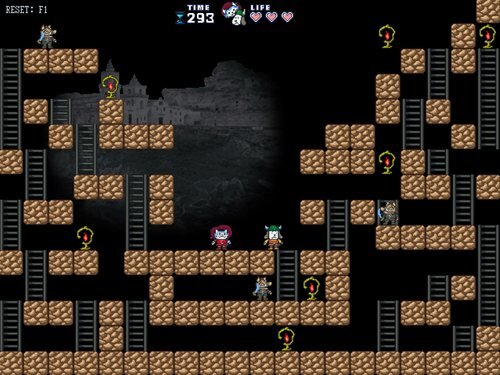 ニャミルとボーンズの大冒険 Game Screen Shot1