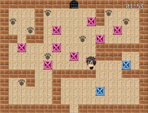 猫田くんの倉庫番 Game Screen Shot4
