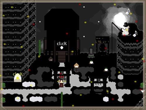 夜の海でお月様を釣る Game Screen Shot1