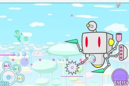 360°STG ~謎のロボット集団の襲撃~ Game Screen Shot1