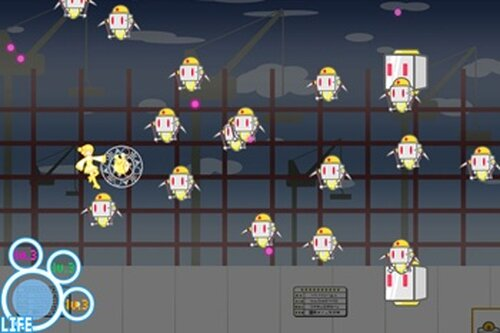 360°STG ~謎のロボット集団の襲撃~ Game Screen Shot5
