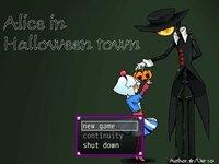 アリスインハロウィンタウンのゲーム画面