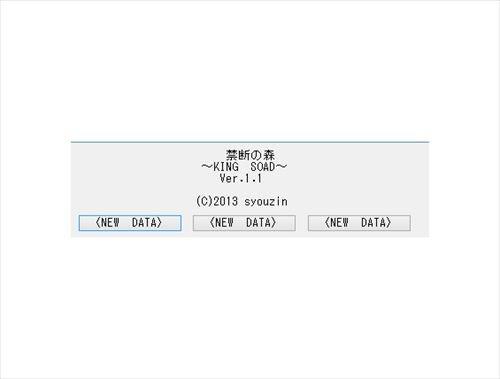 禁断の森 ~KING SOAD~ Game Screen Shot1