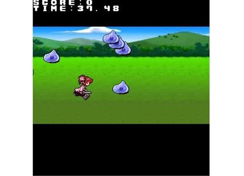 40秒間スライムから少女を守るゲーム Game Screen Shot
