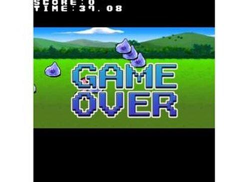 40秒間スライムから少女を守るゲーム Game Screen Shot3
