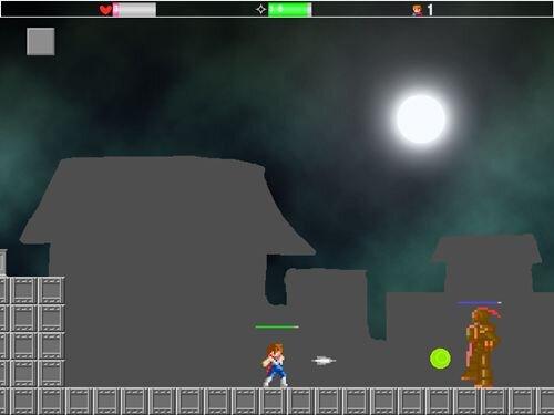 白銀の忍者 Game Screen Shot1