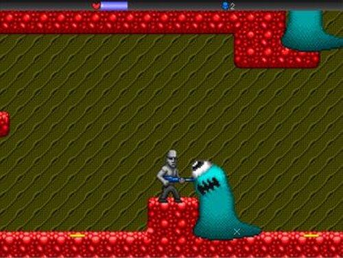 Alien vs Moai Game Screen Shot2