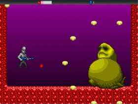 Alien vs Moai Game Screen Shot4