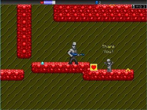 Alien vs Moai Game Screen Shot5