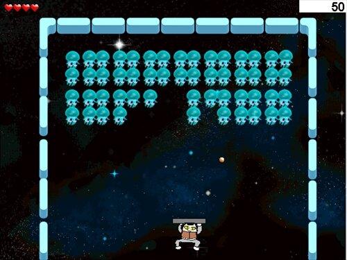 にゃんビットのブロック崩し Game Screen Shot1