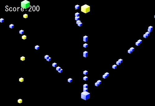 蒼いシューティング Game Screen Shot1