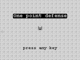 one point defense