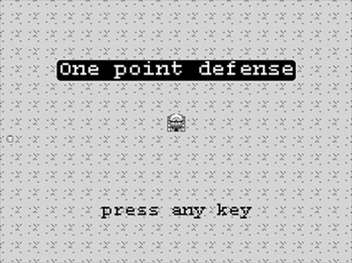 one point defense Game Screen Shots