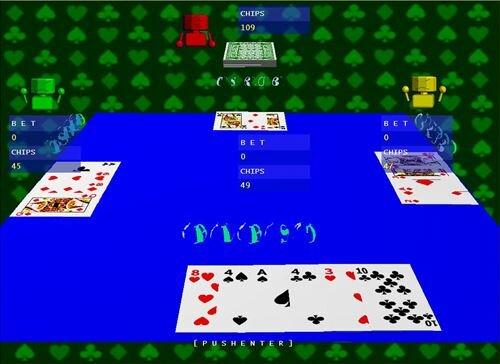 ブラックジャック Game Screen Shot1