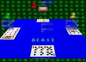 ブラックジャック Game Screen Shot3