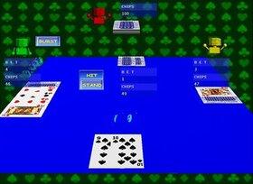 ブラックジャック Game Screen Shot4
