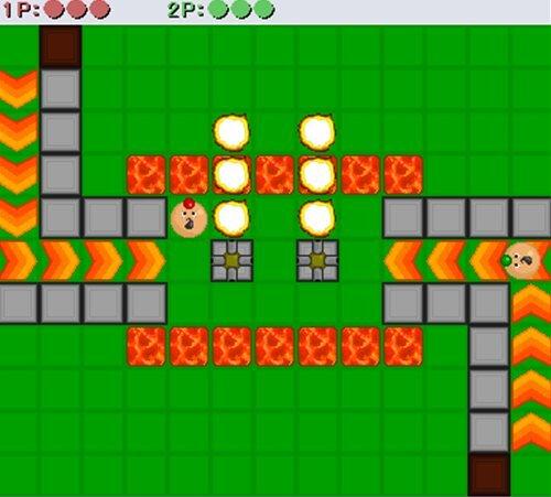 爆弾男 ネットワーク対戦版 Game Screen Shot