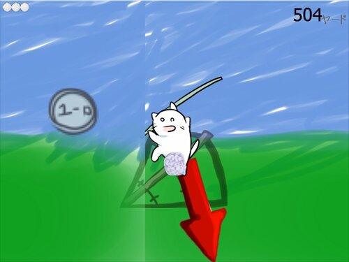 ネコバノゴルフ Game Screen Shot1