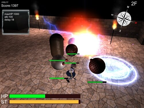 普通のJKがダンジョンもぐってみた Game Screen Shot1