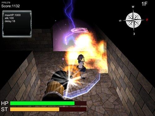 普通のJKがダンジョンもぐってみた Game Screen Shot2