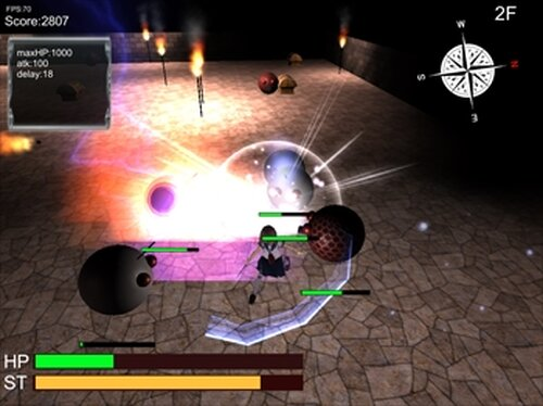 普通のJKがダンジョンもぐってみた Game Screen Shot4